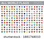 all world flags   vector set of ... | Shutterstock .eps vector #1881768010