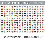 all world flags   vector set of ... | Shutterstock .eps vector #1881768010
