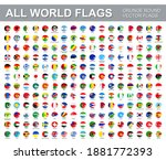 all world flags   vector set of ... | Shutterstock .eps vector #1881772393