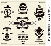 mexican set of labels and... | Shutterstock .eps vector #188178479