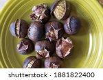 Chestnuts Already Roasted On An ...
