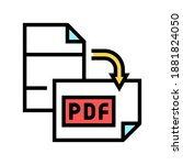 orientation pdf file color icon ... | Shutterstock .eps vector #1881824050