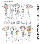 cutie girl collection | Shutterstock .eps vector #188183030