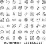 thin outline vector icon set... | Shutterstock .eps vector #1881831316