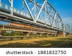 Historical Iron Bridge Across...