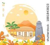 vector illustration of jeju...   Shutterstock .eps vector #1881843823