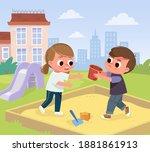 vector illustration of children ...   Shutterstock .eps vector #1881861913