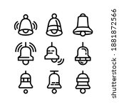bell icon or logo isolated sign ...