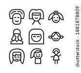 girl icon or logo isolated sign ... | Shutterstock .eps vector #1881878809