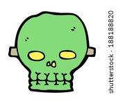 cartoon spooky skull mask | Shutterstock . vector #188188820