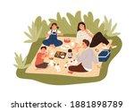 happy family spending time... | Shutterstock .eps vector #1881898789