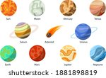 planets of the solar system.... | Shutterstock .eps vector #1881898819