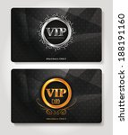 set of abstract vip members... | Shutterstock .eps vector #188191160