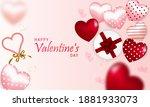 valentine's day  postcard ...   Shutterstock .eps vector #1881933073