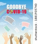goodbye  end of covid 19... | Shutterstock .eps vector #1881935740