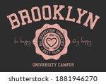 varsity typography vector... | Shutterstock .eps vector #1881946270