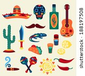 american,aztec,cactus,chili,cigar,collection,dagger,day,dead,drink,element,ethnic,fiesta,food,geometric