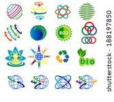 Abstract web Icons and globe vector logos