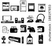 house appliance  icon set | Shutterstock .eps vector #188197853