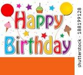 happy birthday   Shutterstock . vector #188199128