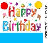 happy birthday   Shutterstock . vector #188199134