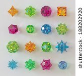 3d Abstract Geometrical Glass...