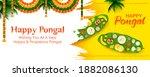 illustration of happy pongal... | Shutterstock .eps vector #1882086130