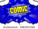 pop art comic background with... | Shutterstock .eps vector #1882091560