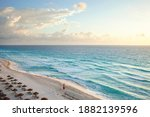 High Angle View Of The Beach In ...