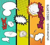 comic speech bubbles on a comic ... | Shutterstock .eps vector #188213978