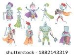 medieval knights in full armor...   Shutterstock . vector #1882143319