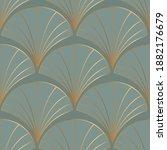 seamless pattern with golden...   Shutterstock .eps vector #1882176679