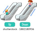 opposite words with up and down ... | Shutterstock .eps vector #1882180936