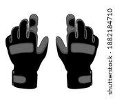 tactical gloves for outdoor... | Shutterstock .eps vector #1882184710