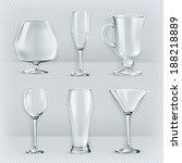 set of transparent glasses... | Shutterstock .eps vector #188218889
