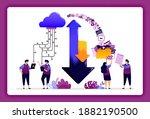 cloud data center illustration. ...
