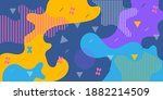 fun abstract background pattern.... | Shutterstock .eps vector #1882214509
