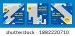 set of social media post...   Shutterstock .eps vector #1882220710