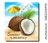 summer holidays creative... | Shutterstock .eps vector #1882243993