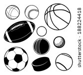 sports ball collection eps 10... | Shutterstock .eps vector #188224418