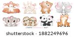 cute doodle couple animals for... | Shutterstock .eps vector #1882249696