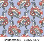 seamless floral pattern | Shutterstock .eps vector #188227379