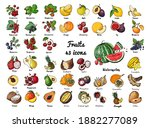 vector colored food icons... | Shutterstock .eps vector #1882277089