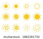 sun icons set. hand drawing in... | Shutterstock .eps vector #1882281733