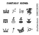 fantasy icons  mono vector... | Shutterstock .eps vector #188228390