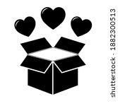 simple illustration of heart... | Shutterstock .eps vector #1882300513