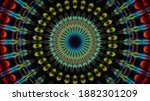 Abstract Fractal Multi Colored...