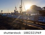 Fishing Boats Harbour Deck With ...