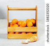 Ripe Delicious Tangerines In A...