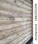 Wooden Logs  Wall Of Russian...